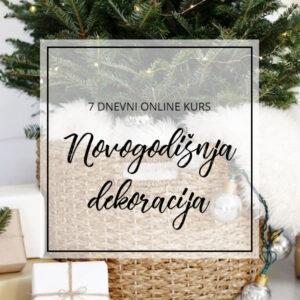 online kurs novogodisnje dekoracije
