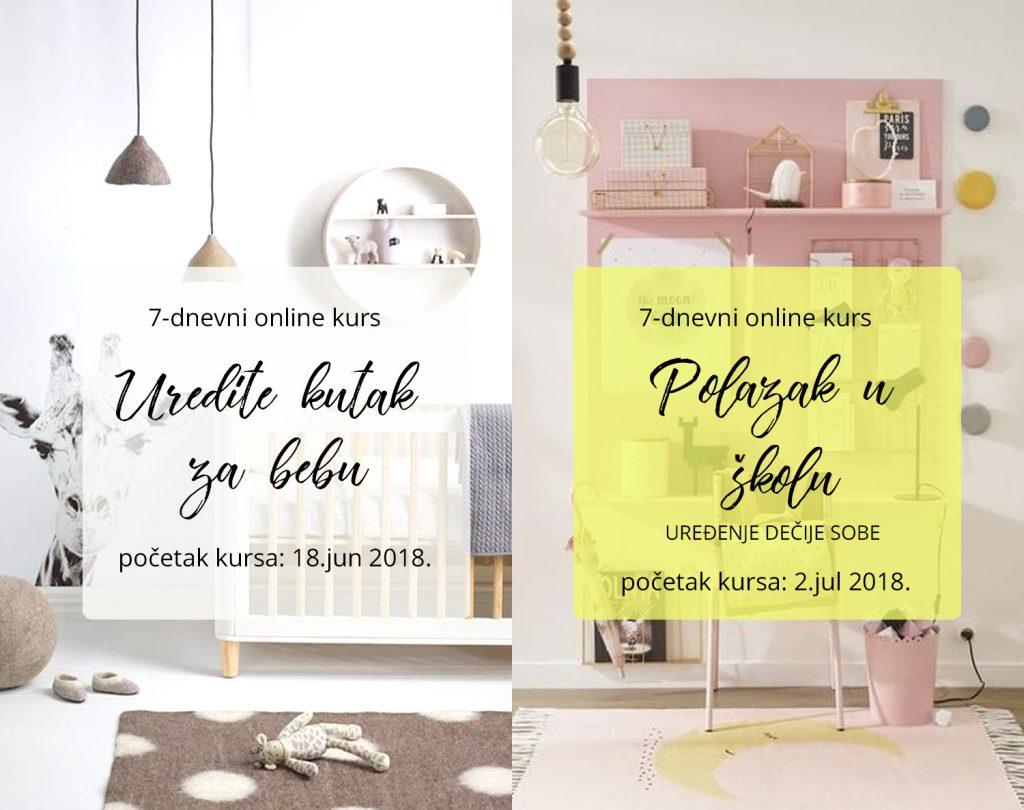 online kurs uređenje kutka za bebu polazak u skolu