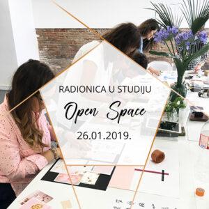 Radionica u studiju Open Space | 26.01.2019.